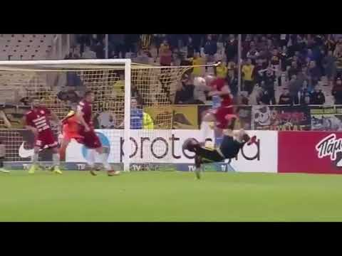 The amazing goal of Lazaros Christodoulopoulos! Aek vs Larisa 1-0
