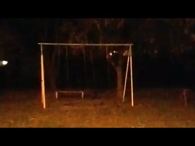 Ghost Park Swing Moves By Itself As Others Remain Still