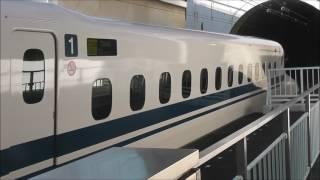 【のりものテレビ】 山陽新幹線 新神戸駅 上り列車 ホームゲート開閉音  構内アナウンス