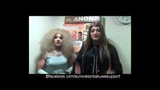 Eurovision Fan Club: Comedians Joshgun and Raphael smile to Europe.