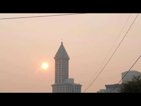 Dangerous Levels of Smoke Over Seattle | B.C. Canada Fires
