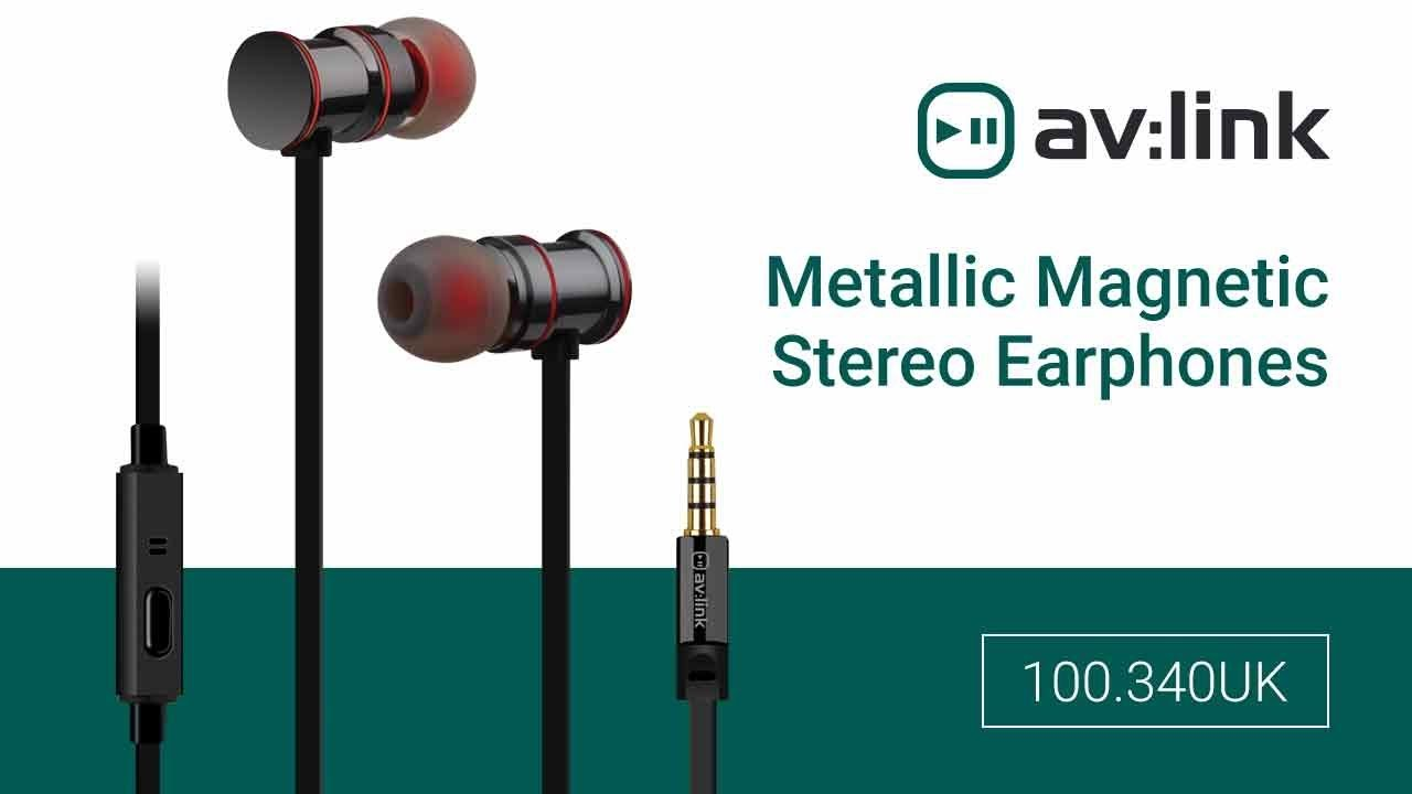 ef7d6a24970 100.340/341/342/343UK - Metallic Magnetic Stereo Earphones | Grey, Gold,  Black, Rose Gold