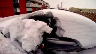 clearing snow off the car(GoPro hero3+) thumbnail