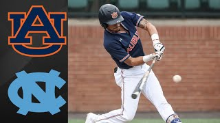 Auburn vs #14 North Carolina Super Regional Game 1 | College Baseball Highlights
