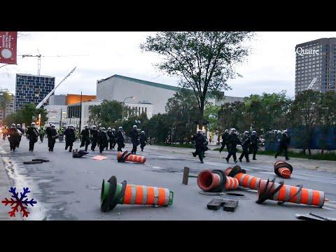 George Floyd : Protest turn into riot / Émeute à Montréal, Canada 31-05-20