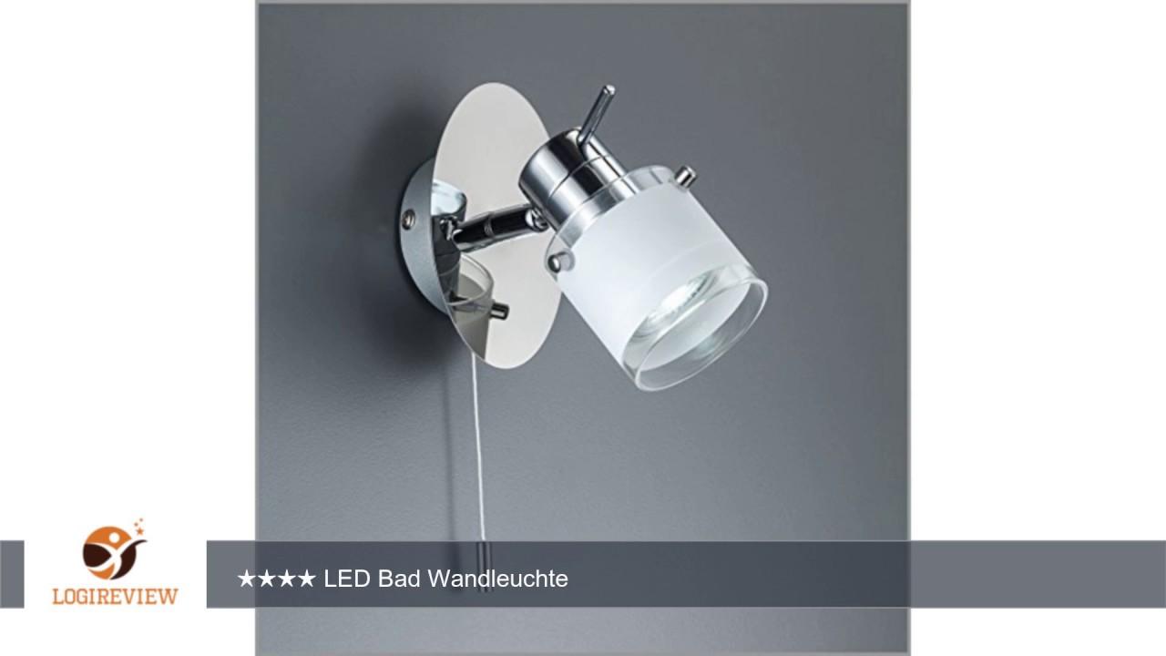 Led bad wandleuchte wandlampe schwenkbar spritzwasser gesch tzt ip44 zugschalter deckenleuchte - Wandlampe schwenkbar ...