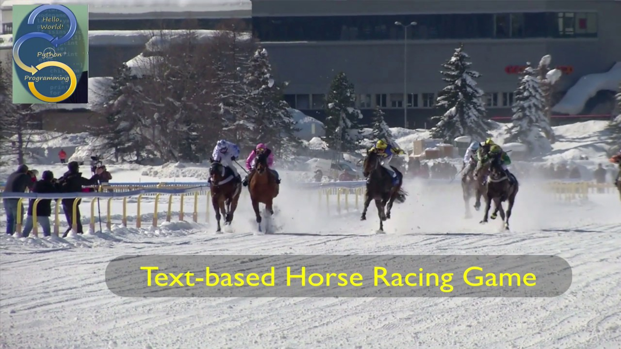 Python For Kids Mathew S Horse Racing Game Youtube