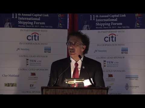 2017 11th Annual Capital Link International Shipping Forum - Keynote and Award Presentation