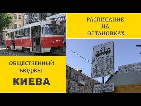 Расписание на остановках. В поддержку проекта Общественного бюджета Киева.