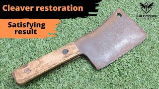 Vintage butcher's Cleaver restoration.