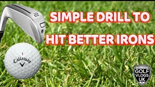 SIMPLE DRILL TO IMPROVE BETTER BALL STRIKING