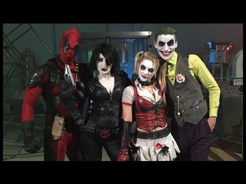 Who would win deadpool and domino vs joker and harley quinn spbd youtube - Deadpool harley quinn notebook ...