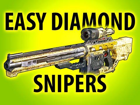 EASY DIAMOND CAMO SNIPERS