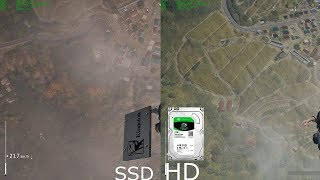 Playerunknown's Battlegrounds SSD VS HD