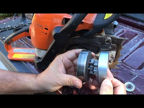 How to replace a chainsaw sprocket,Stihl MS 290,310,390,391