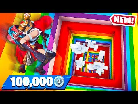 Little Brother Gets 100K Vbucks if He Wins! (Fortnite Rainbow Dropper)