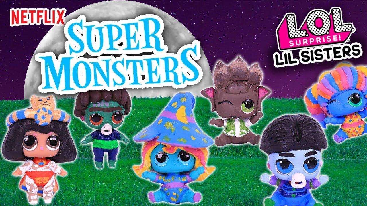 Super Monstruos Personajes De La Serie Netflix En Lil Sisters Transformaciones Fantásticas