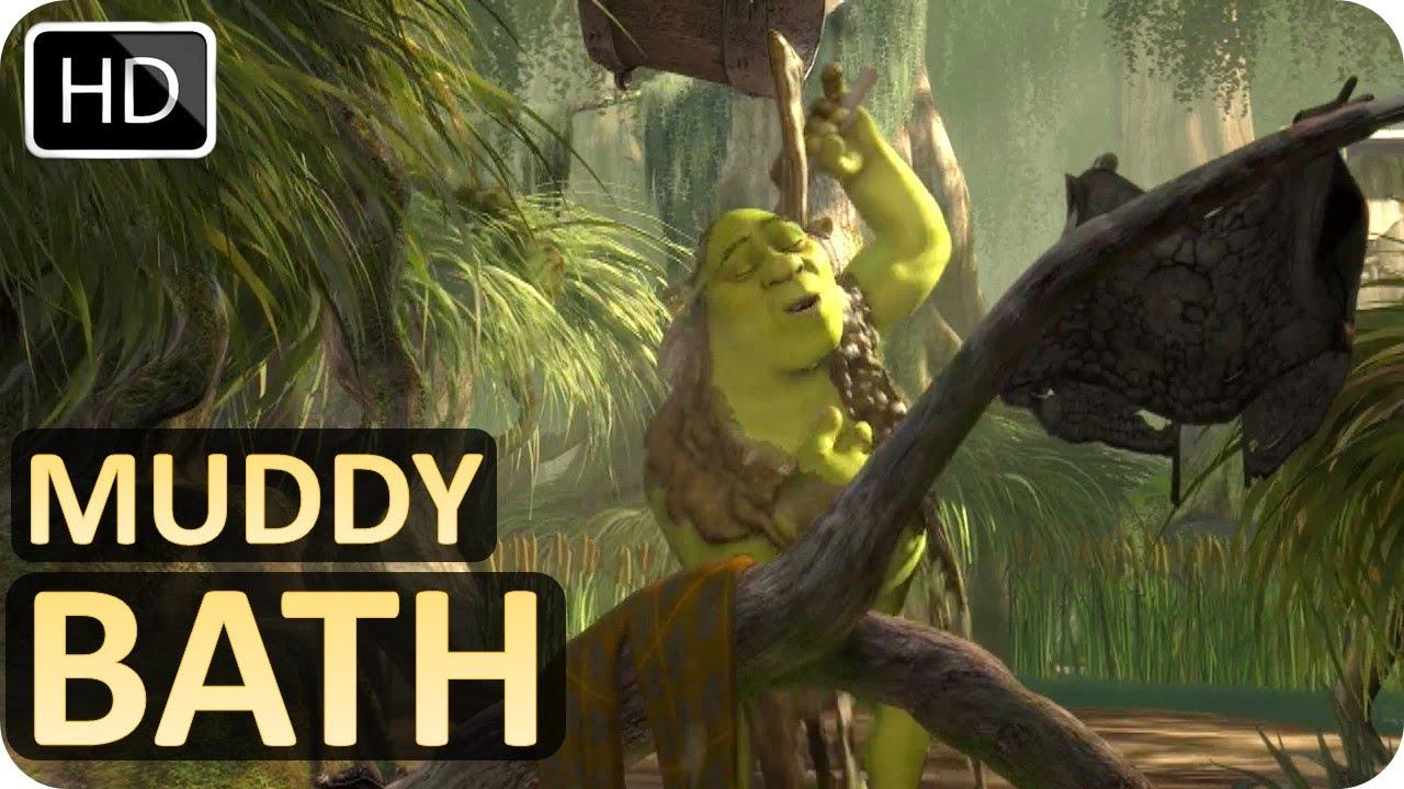 Shrek Takes A Muddy Bath Scene From Shrek 2001 Youtube