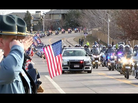 Funeral procession for deputy Zachari Parrish in Highlands Ranch