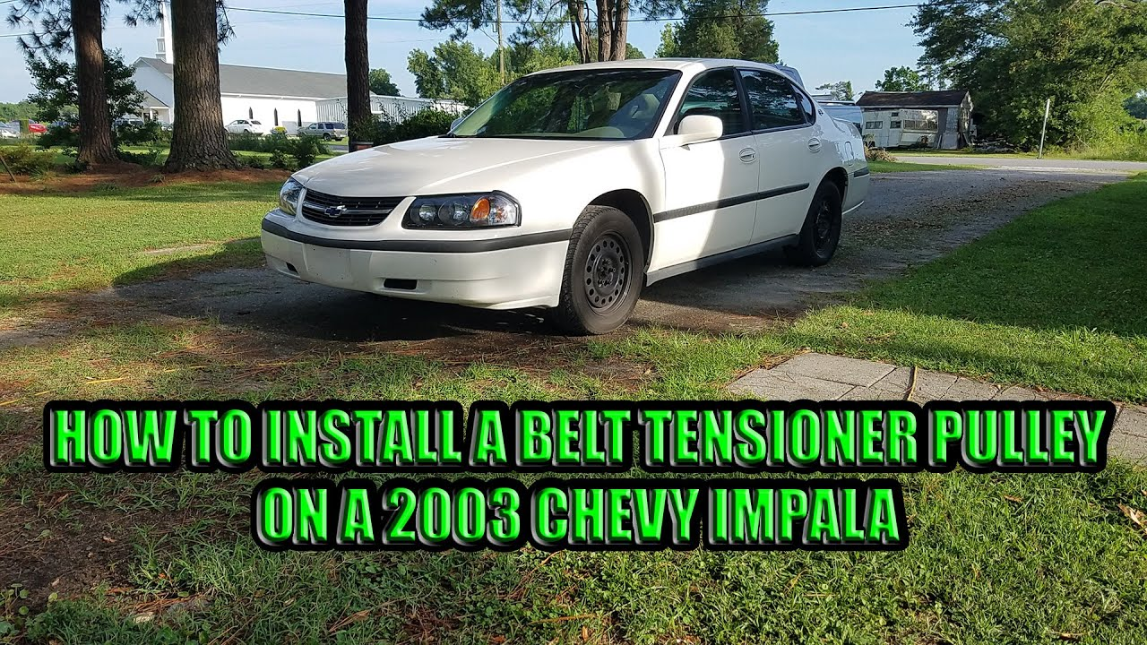 How To Install A Belt Tensioner Pulley On 2003 Chevy Impala Youtube 2001 Venture 3 1l Engine Pully Diagram Premium