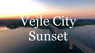 DJI Phantom 4 Footage 4K. Denmark/Sunset in Vejle City
