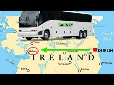 Dublin to Galway, Ireland | Bus Ride | Hostel Room Tour | Ireland Episode 1