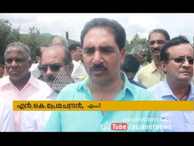 N.K. Premachandran visit Punalur-Shencotta line construction are