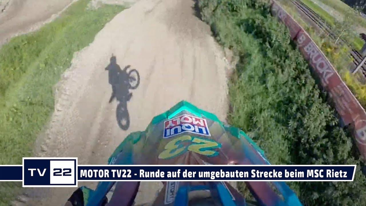 Neues Motocross Streckenlayout beim MSC Rietz nach Umbau Sept 2021 zeigt Peter Scheyrer - MOTOR TV22
