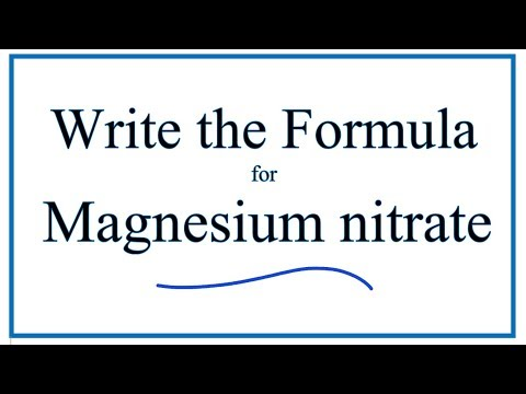 How To Write The Formula For Magnesium Nitrate