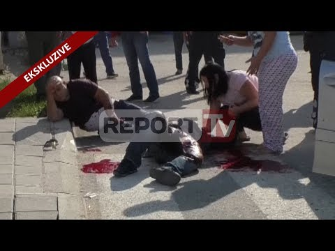 Report TV - Atentati në Vlorë, i plagosur dhe  një 8-vjeçar,ndodhej në makinë