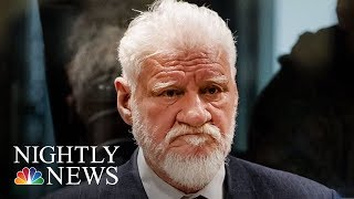 War Criminal Dies After Drinking Poison In Court | NBC Nightly News