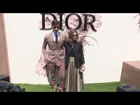 Olivia Palermo, Johannes Huebl and more at the Dior Couture Fashion show in Paris