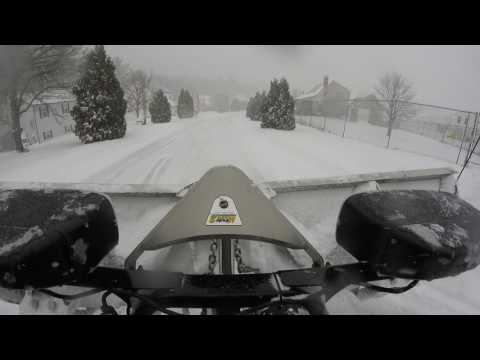 Snow Plowing With The Fisher V Plow 39