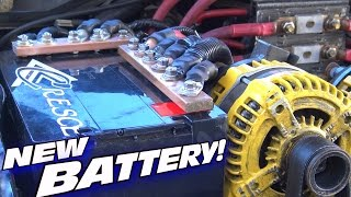Installing a NEW Battery w/ Multiple High Output Alternators & Custom Copper Car Audio Bus Bars