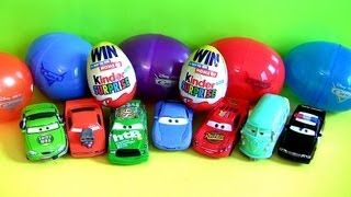 ★ 8 PIXAR Cars HOLIDAY EDITION Kinder Surprise Eggs Lightning McQueen Sally Snot Rod Easter Egg