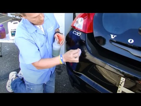 "How to remove Epoxy spray paint overspray Volvo C30 ""Auto Paint Overspray Removal of Texas"""