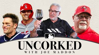 MLB's coolest manager! Joe Maddon hangs with Bruce Arians, talks Tom Brady + Mike Trout on Uncorked!
