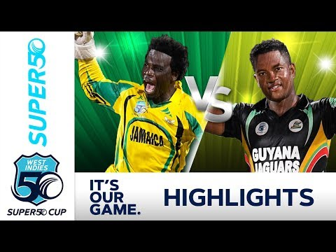 Super50 Cup 2018 SEMI FINAL |  Jamaica v Guyana - Extended Highlights