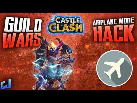 CASTLE CLASH - INSANE F2P GUILD WARS AND | AIRPLANE MODE HACK/GLITCH