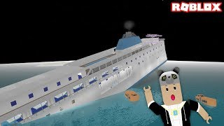 Escape from the ship Sinking! -With Panda Roblox Sinking Ship