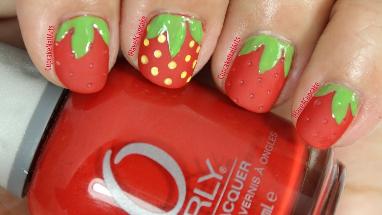 - Simple Strawberry Nail Art - YouTube