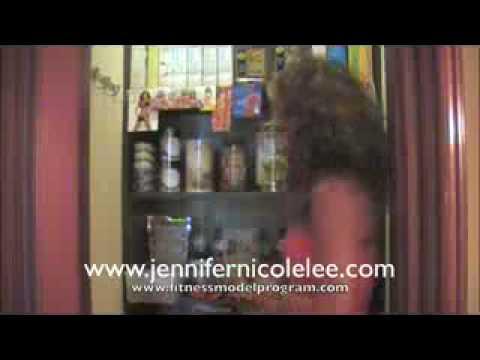 Sexy Jennifer Nicole Lee  Fitness Model Secret Six Pack Foods