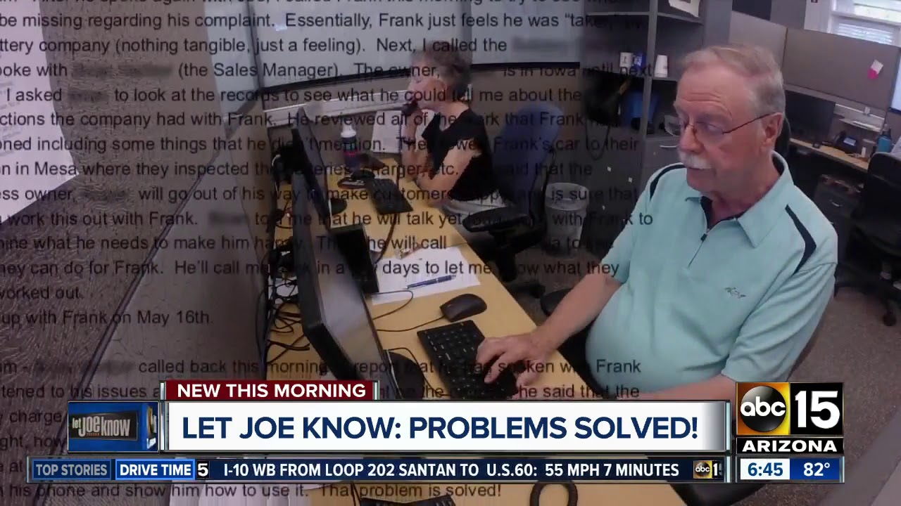 Let Joe Know helps you solve problems