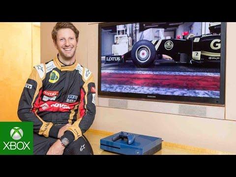Forza Motorsport 6: F1 Driver Romain Grosjean versus Head of Xbox