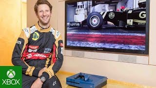 Forza Motorsport 6: F1 Driver Romain Grosjean versus Head of Xbox