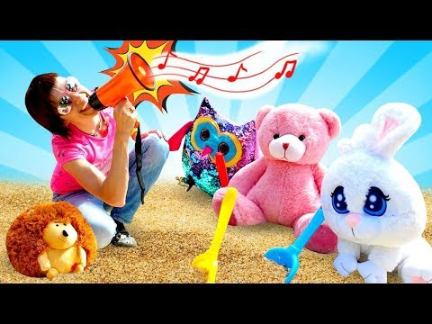 Маша Капуки в песочнице! Развивающие видео с Капуки Кануки