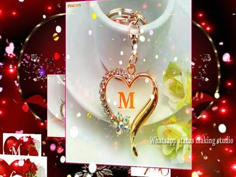 M alphabet status   m letter whatsapp status video