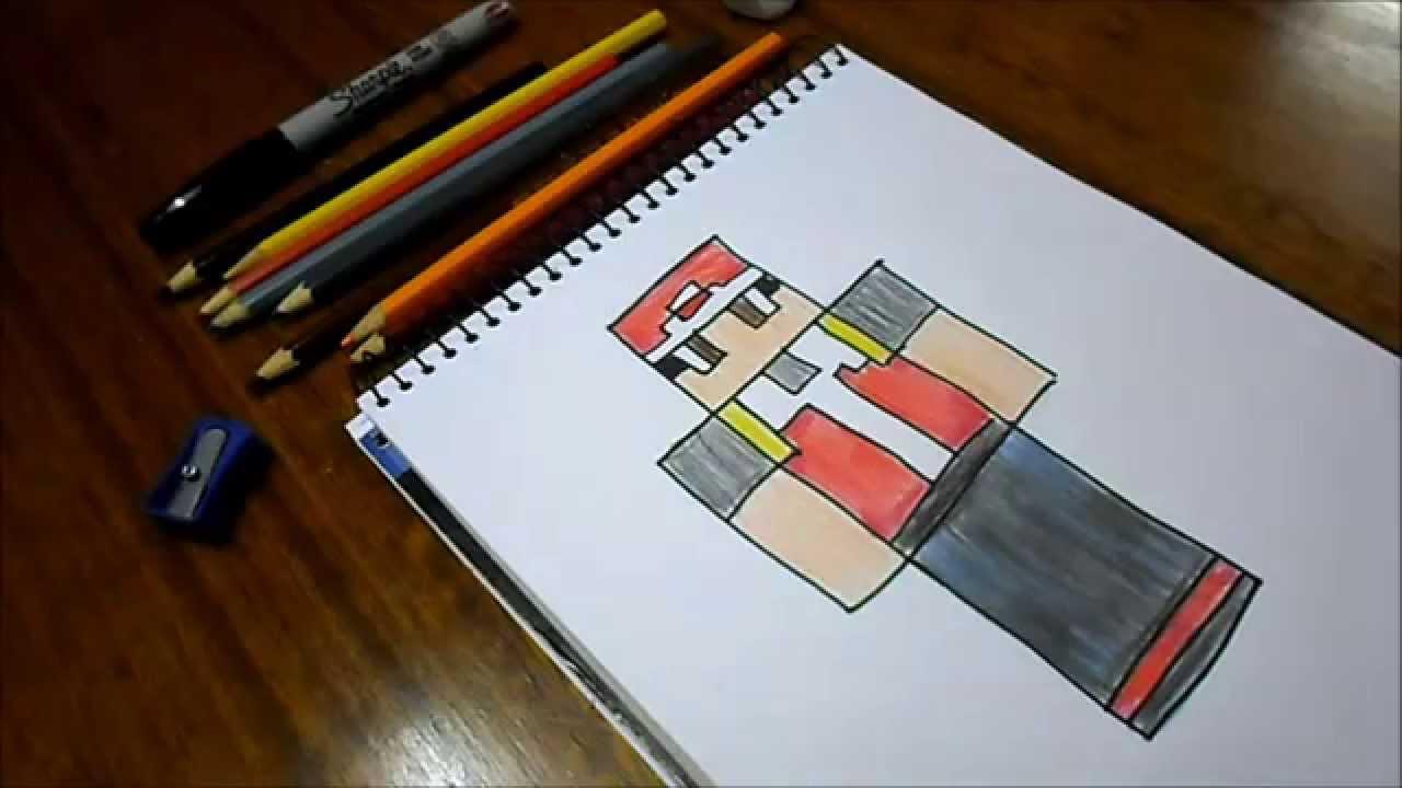 Steve Minecraft Para Colorear: Dibujando Skin TheAshYT / Minecraft