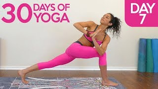 Belly Fat Blast with Jess ♥ Yoga Core Workout, Day 7 of 30 Beginners Class to Improve Digestion