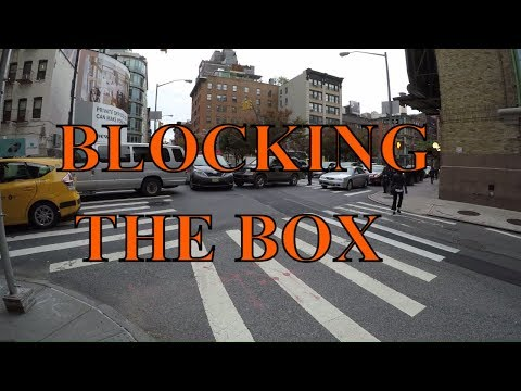 ⁴ᴷ NYPD ticketing cars blocking the box near Holland Tunnel with bonus clips of traffic control